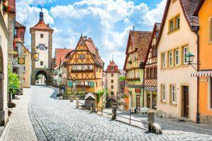 תרגום לגרמנית בתמונה: נוף העיירה רוטנבורג אוב דר טאובר, גרמניה