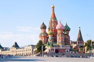 תרגום לרוסית בתמונה: נוף לכיכר האדומה מוסקבה, רוסיה