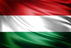 תרגום להונגרית בתמונה: דגל הונגריה פסים רוחביים אדום לבן ירוק