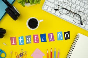 תרגום לאיטלקית בתמונה תרגום איטלקי תצוגה עליונה איטלקית כיתוב רקע צהוב
